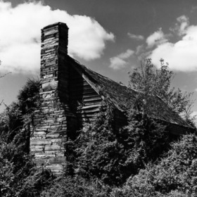 View with chimney, Dr. Francis J. Kron House, Stanly County, North Carolina