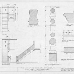 Stairway details, State Bank of North Carolina, Raleigh, North Carolina