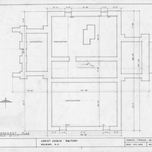 Basement plan, State Bank of North Carolina, Raleigh, North Carolina