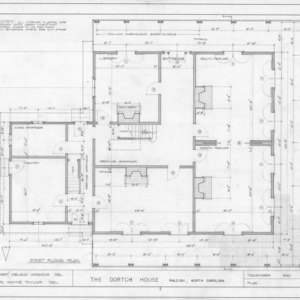 First floor plan, Dortch House, Raleigh, North Carolina