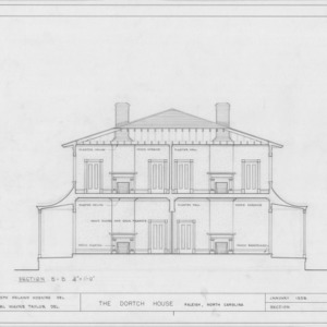 Cross section, Dortch House, Raleigh, North Carolina