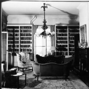 Interior view with fireplace, Dortch House, Raleigh, North Carolina