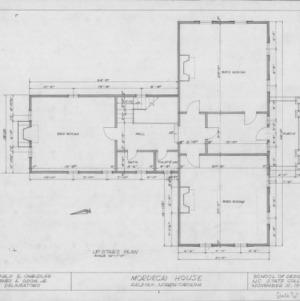 Second floor plan, Mordecai House, Raleigh, North Carolina