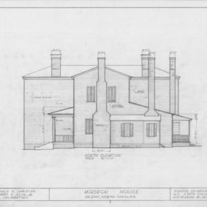 North elevation, Mordecai House, Raleigh, North Carolina
