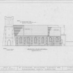 South elevation, St. Stephen's Episcopal Church, Goldsboro, North Carolina