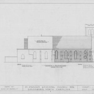 North elevation, St. Stephen's Episcopal Church, Goldsboro, North Carolina