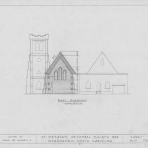 East elevation, St. Stephen's Episcopal Church, Goldsboro, North Carolina