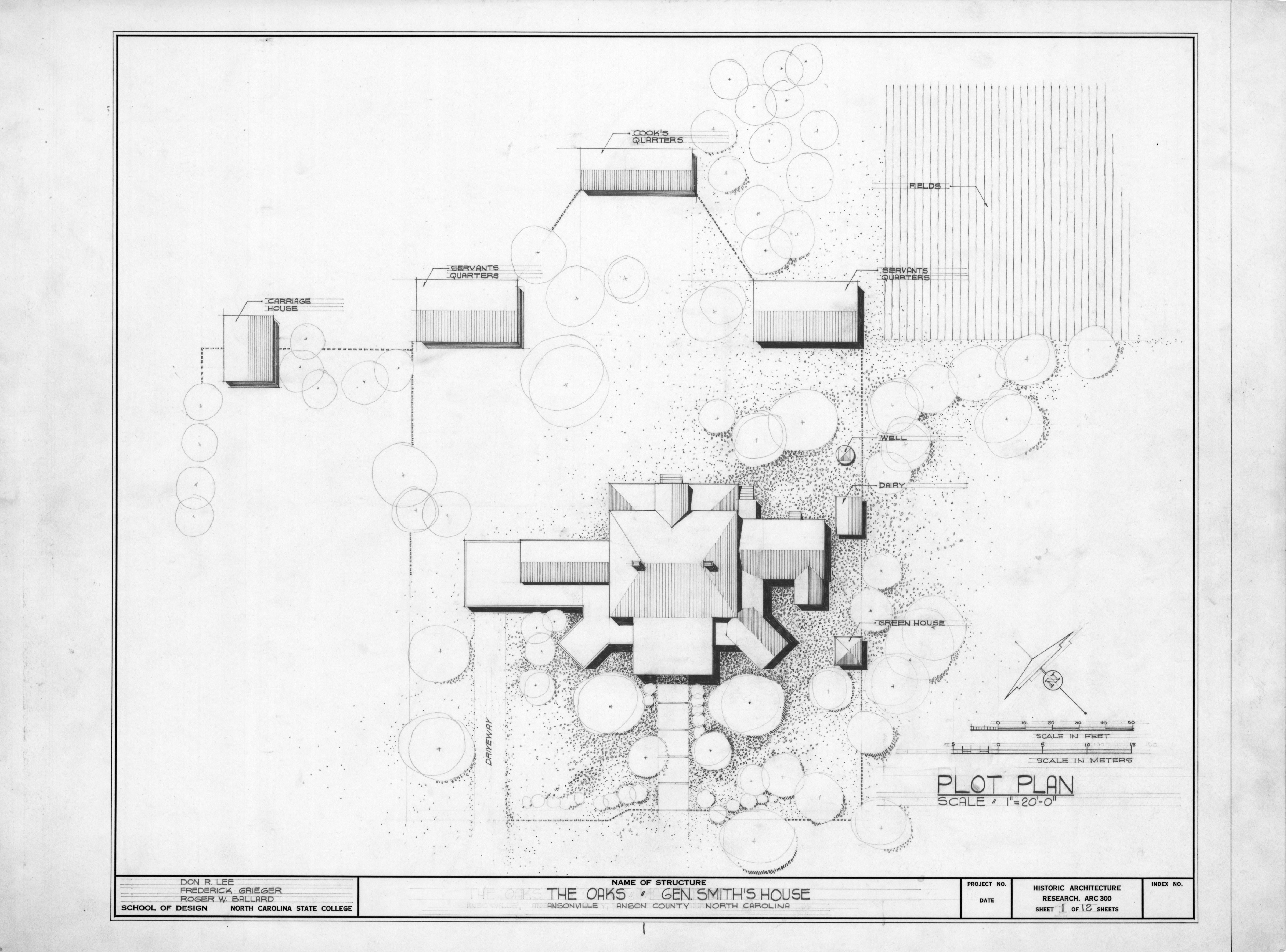 Site Plan William Smith House Ansonville North Carolina William A House House The Oaks