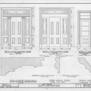 Door and trim details, William Smith House, Ansonville, North Carolina