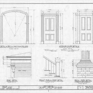 Details, William Smith House, Ansonville, North Carolina