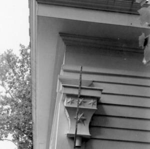 Exterior detail, William Smith House, Ansonville, North Carolina