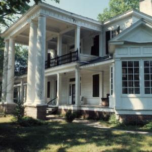 Portico, William Smith House, Ansonville, Anson County, North Carolina