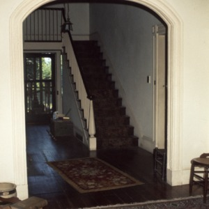 Interior view with stairs, William Smith House, Ansonville, Anson County, North Carolina