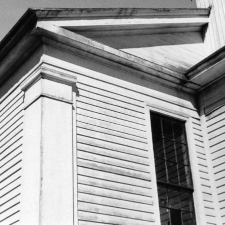 Exterior detail, Primitive Baptist Church, Goldsboro, North Carolina