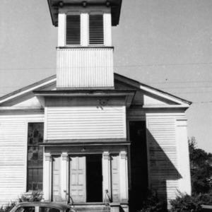Front view, Primitive Baptist Church, Goldsboro, North Carolina