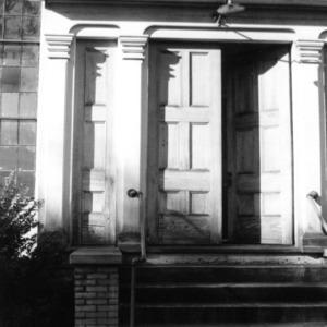 Door detail, Primitive Baptist Church, Goldsboro, North Carolina