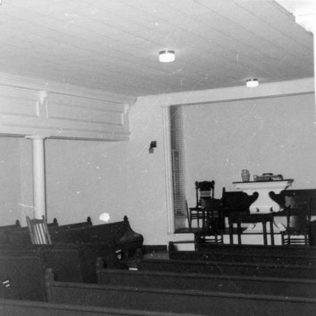 Interior view, Primitive Baptist Church, Goldsboro, North Carolina