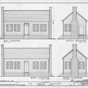 Elevations, Asheboro Female Academy, Asheboro, North Carolina