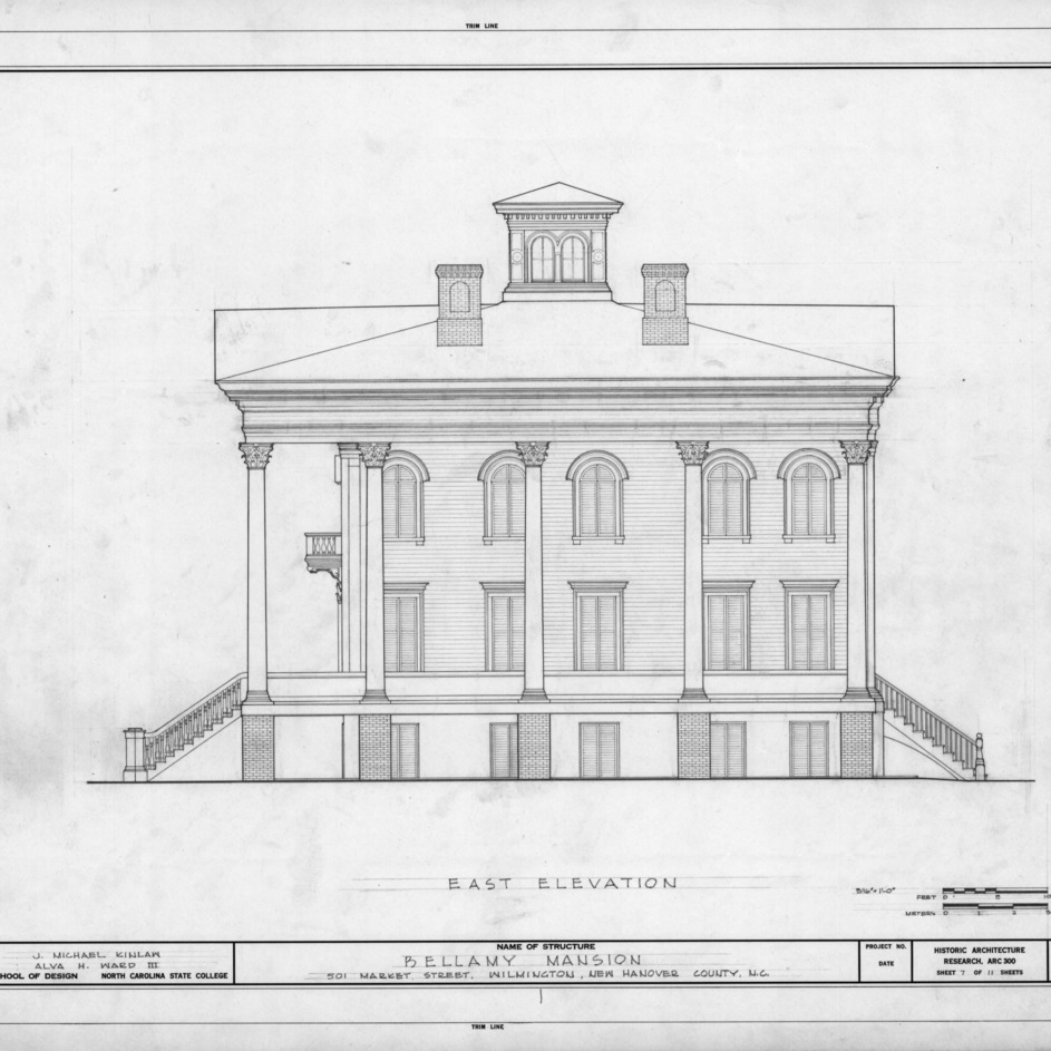 East elevation, Bellamy Mansion, Wilmington, North Carolina