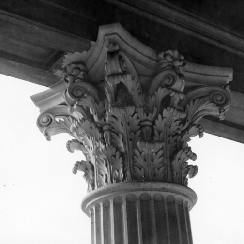 Column detail, Bellamy Mansion, Wilmington, North Carolina