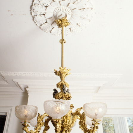 Chandelier, Bellamy Mansion, Wilmington, New Hanover County, North Carolina