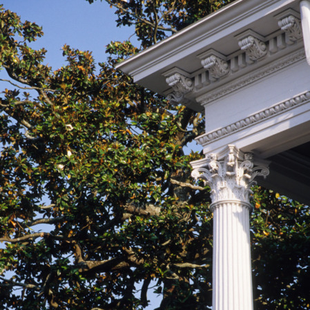 Column detail, Bellamy Mansion, Wilmington, New Hanover County, North Carolina
