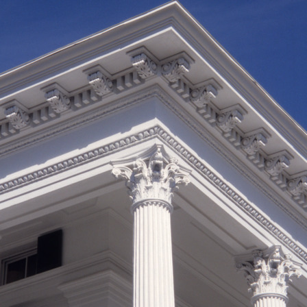 Corner detail, Bellamy Mansion, Wilmington, New Hanover County, North Carolina