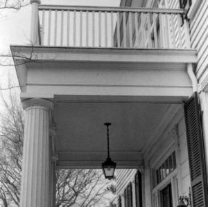 Porch detail, Benjamin Battle House, Rocky Mount, North Carolina