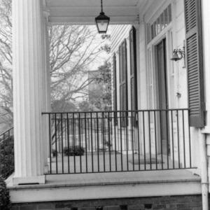 Porch, Benjamin Battle House, Rocky Mount, North Carolina