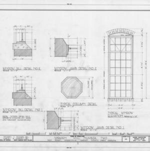 Window and column details, McAden Mill No. 2, McAdenville, North Carolina