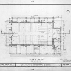 Floor plan, St. Mary's Episcopal Church, Orange County, North Carolina