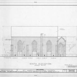 South elevation, St. Mary's Episcopal Church, Orange County, North Carolina