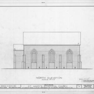 North elevation, St. Mary's Episcopal Church, Orange County, North Carolina