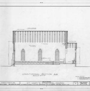 Longitudinal section, St. Mary's Episcopal Church, Orange County, North Carolina