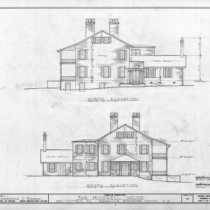 North and south elevations, Smith-McDowell House, Asheville, North Carolina