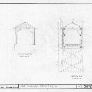 Elevation and cross section, Randolph Bridge No. 52, Randolph County, North Carolina