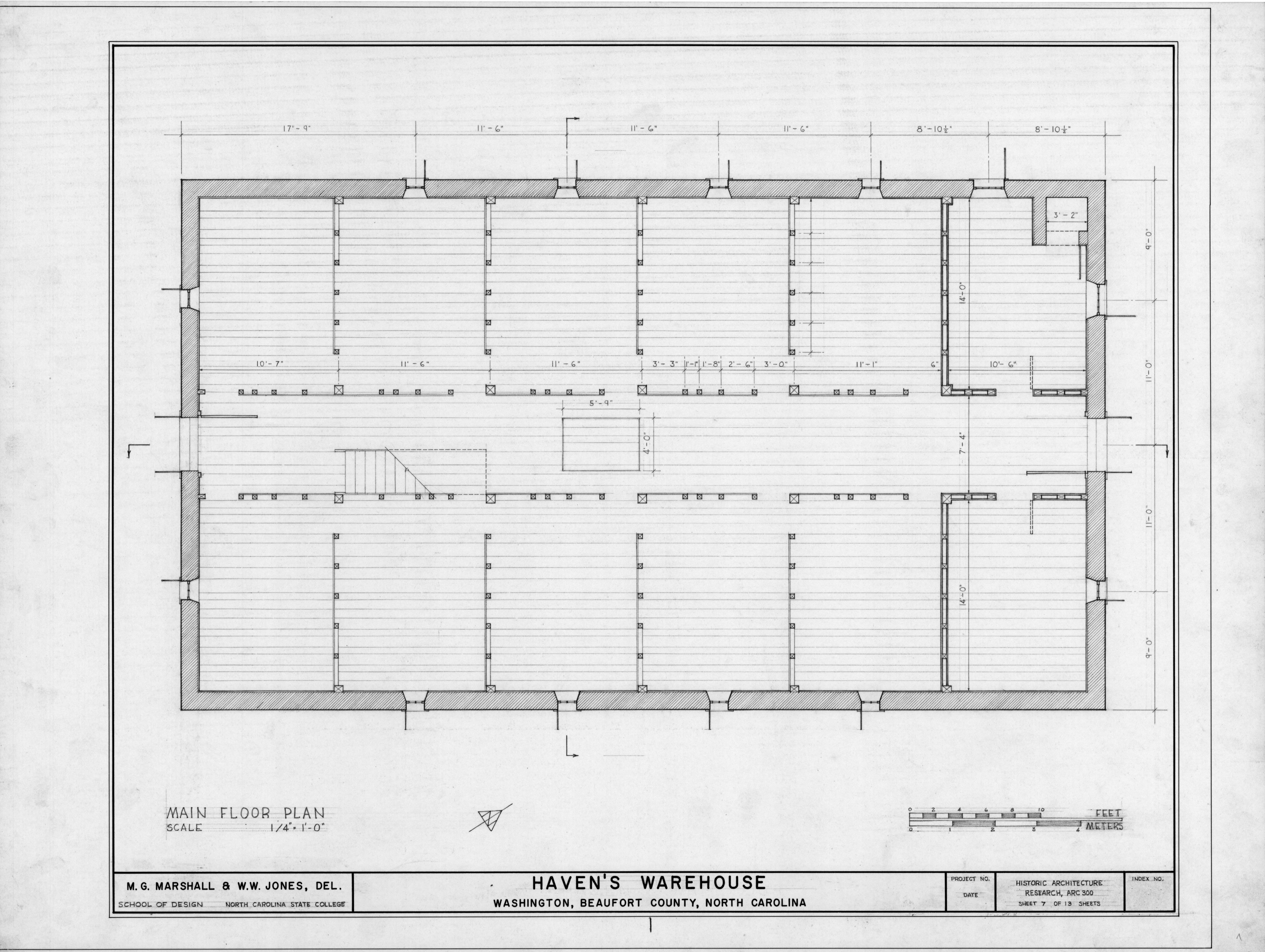 Second Floor Plan, Havens Warehouse, Washington, North