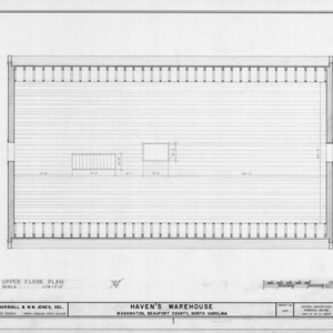 Third floor plan, Havens Warehouse, Washington, North Carolina