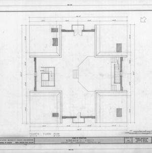 Fourth floor plan, Korner's Folly, Kernersville, North Carolina