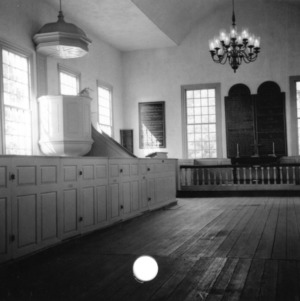 Interior view, St. John's Episcopal Church, Williamsboro, North Carolina