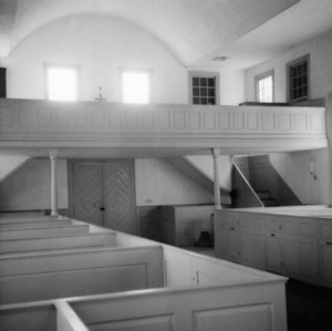 Interior view with gallery, St. John's Episcopal Church, Williamsboro, North Carolina