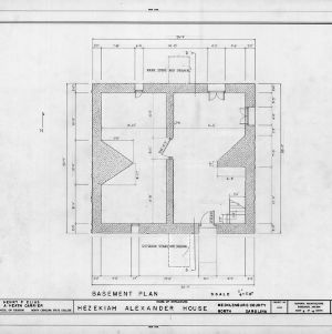 Basement plan, Hezekiah Alexander House, Mecklenburg County, North Carolina