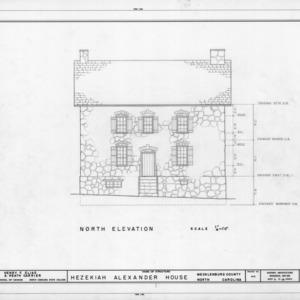 North elevation, Hezekiah Alexander House, Mecklenburg County, North Carolina