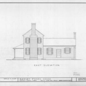 East elevation, Barnabus Jones House, Wake County, North Carolina