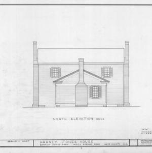 North elevation, Barnabus Jones House, Wake County, North Carolina