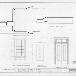 Door and window details, Barnabus Jones House, Wake County, North Carolina