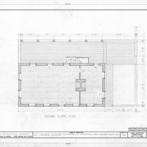 First floor plan, St. John's Lodge, Wilmington, North Carolina