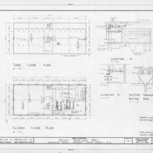 Floor plans and details, Drury Morgan Mill, Union County, North Carolina