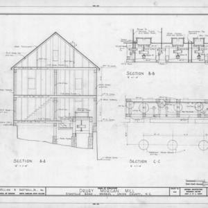 Cross section and section details, Drury Morgan Mill, Union County, North Carolina