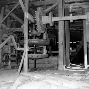 Interior view, Drury Morgan Mill, Union County, North Carolina